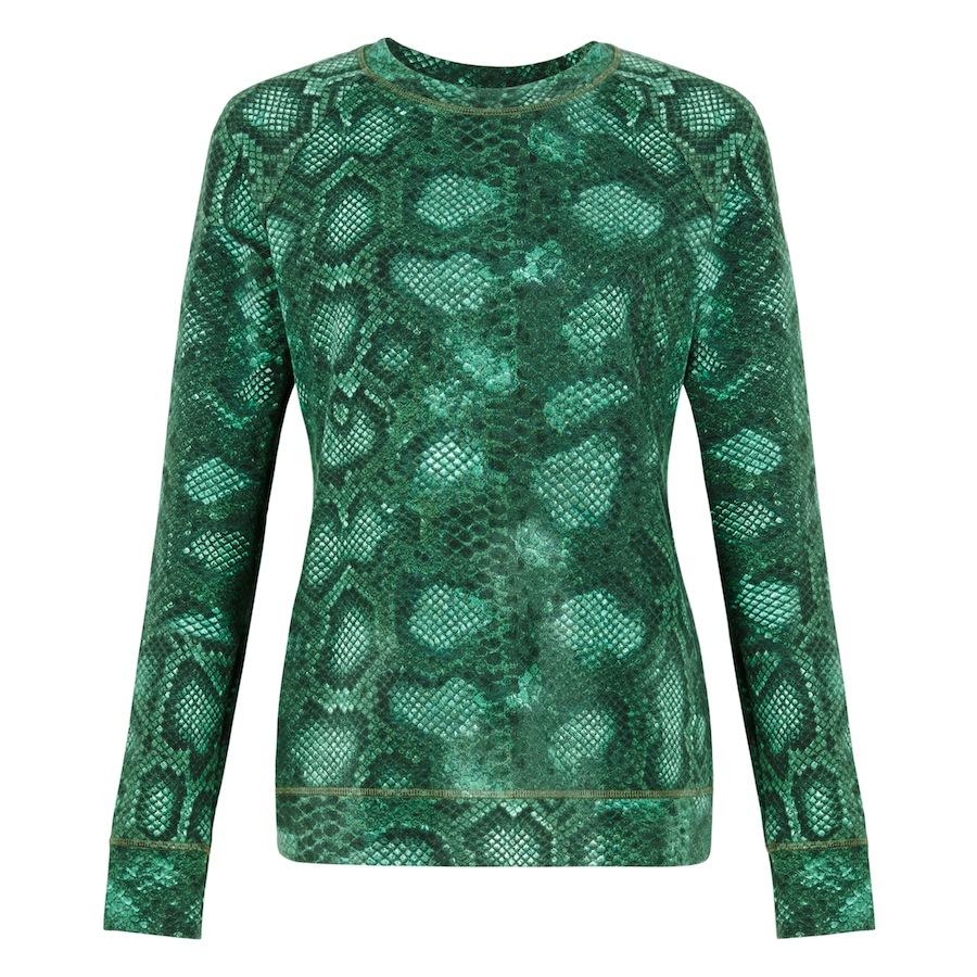 Sweatshirt In Green Python