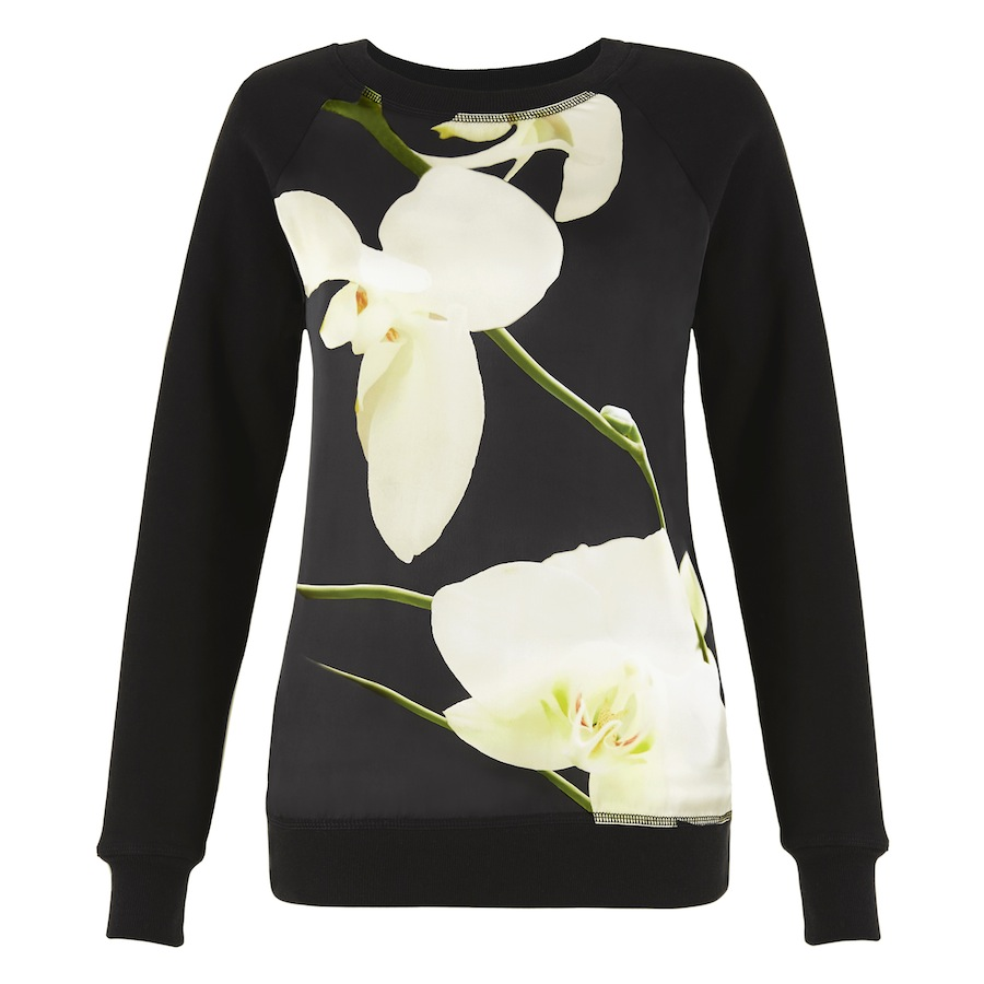Sweatshirt In Orchid Print