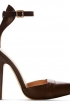 Ankle Strap Shoe In Brown