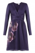 Wrap Dress in Purple Orchid