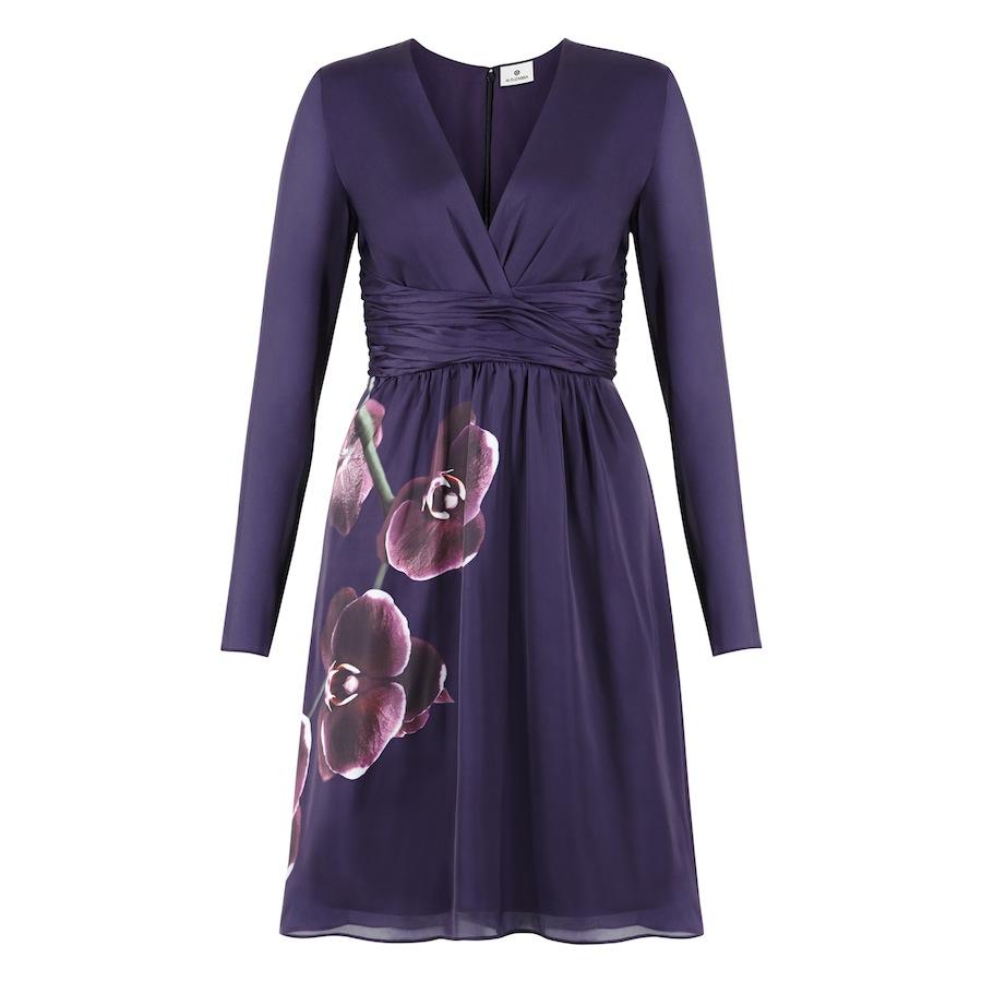 Wrap Dress in Purple Orchid