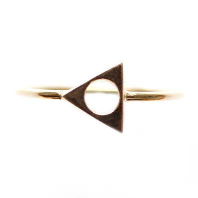 Mociun Triangle Ring