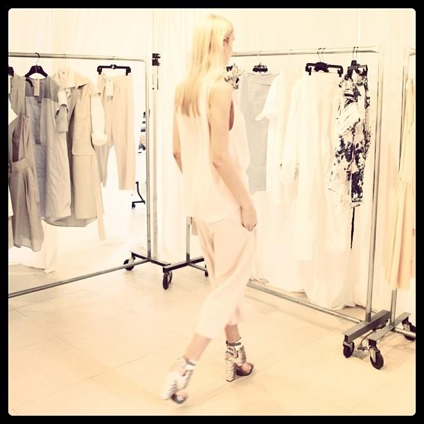 In the showroom