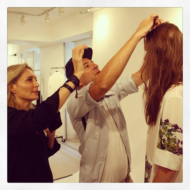 Working with Bumble & bumble on the hair look