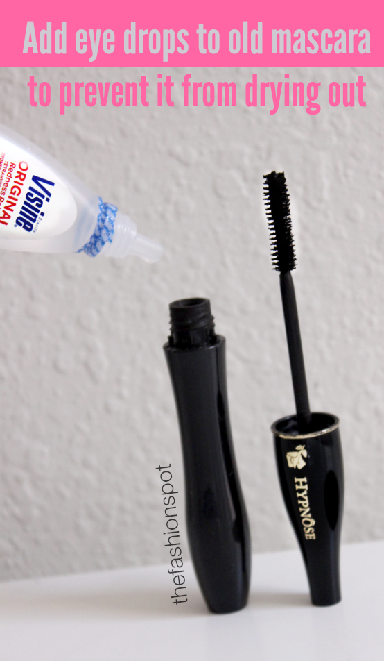 Add eye drops to old mascara