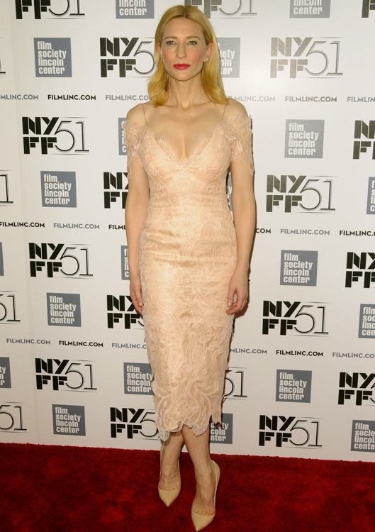 Cate Blanchett at the 51st New York Film Festival Tribute Gala