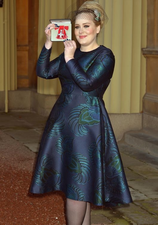 Adele at the Member of the Order of the British Empire Presentation
