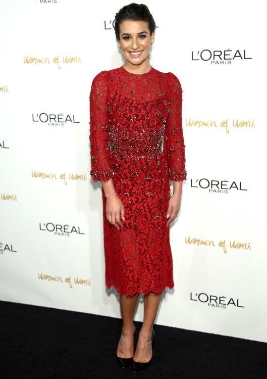 Lea Michele at the 2013 L'Oréal Paris Women of Worth Event