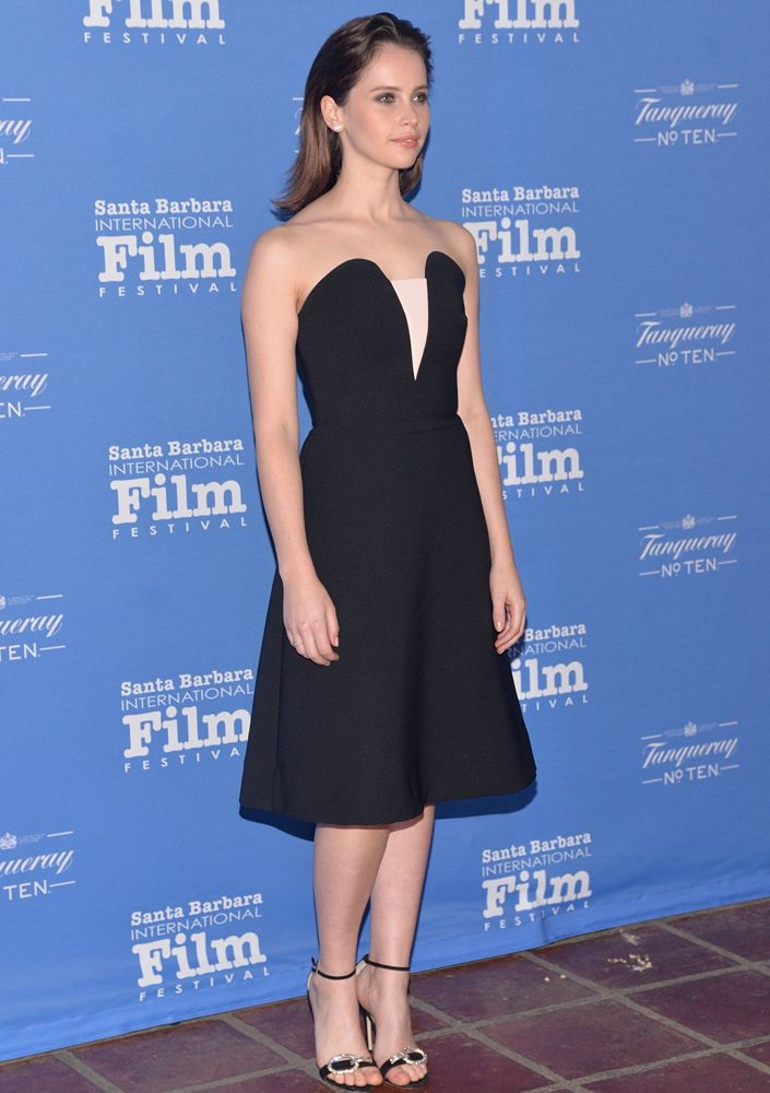 Felicity Jones at the 30th Santa Barbara International Film Festival Cinema Vanguard Award Ceremony