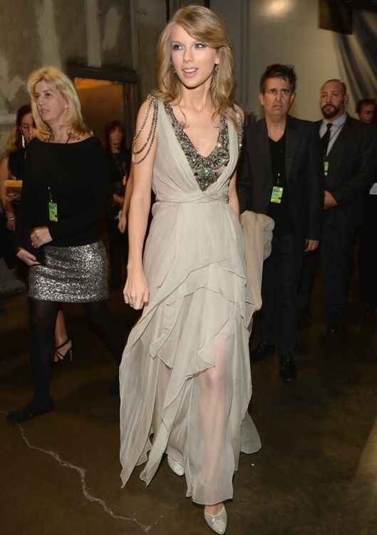 Taylor Swift Backstage at the 56th Annual Grammy Awards
