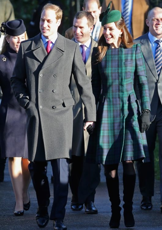 Catherine, Duchess of Cambridge at the Sandringham Christmas Day Service
