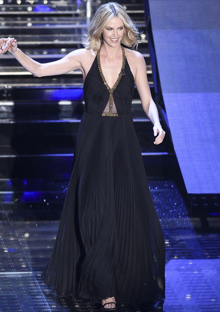 Charlize Theron at Festival di Sanremo 2015