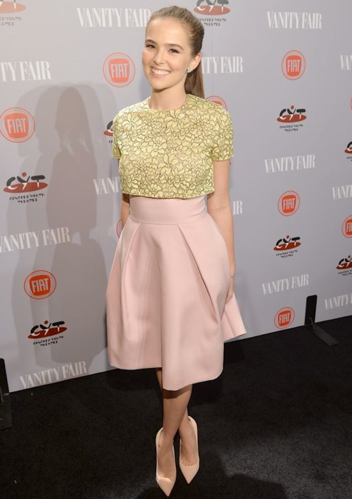 Zoey Deutch at the Vanity Fair and FIAT Celebration of Young Hollywood