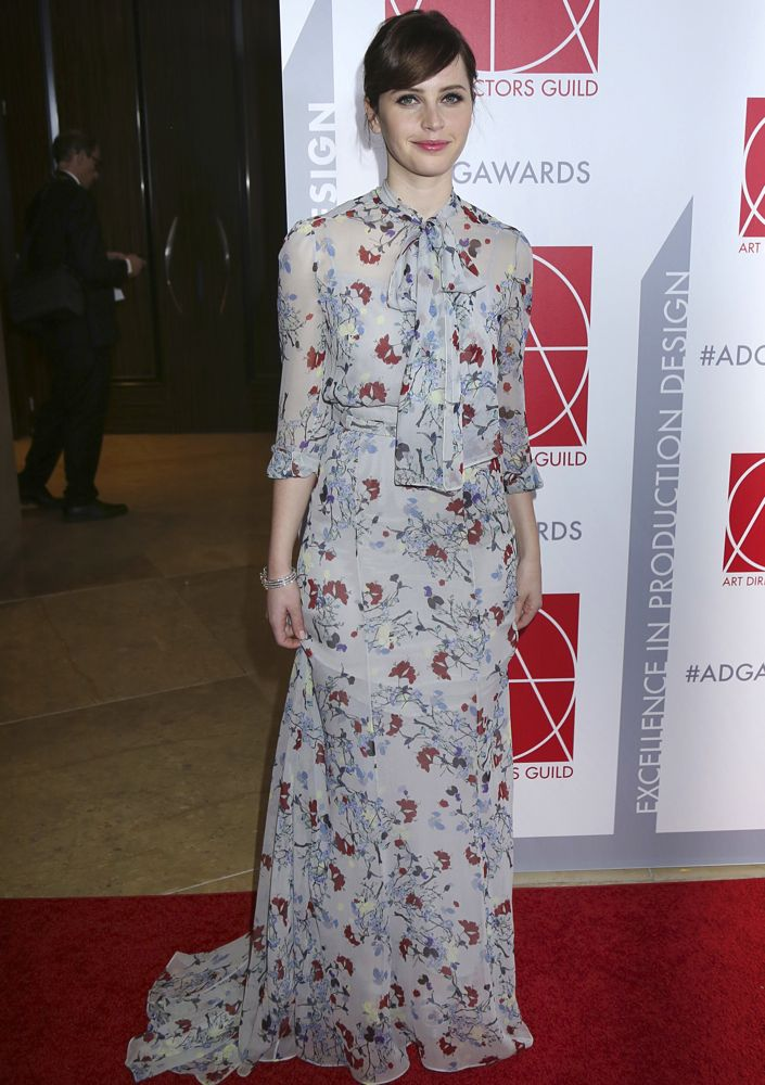 Felicity Jones at the 19th Annual Art Directors Guild Excellence in Production Design Awards