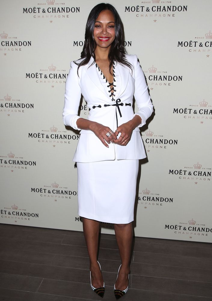 Zoe Saldana at Moët & Chandon's Celebration of Roger Federer's 1000th Career Match Win