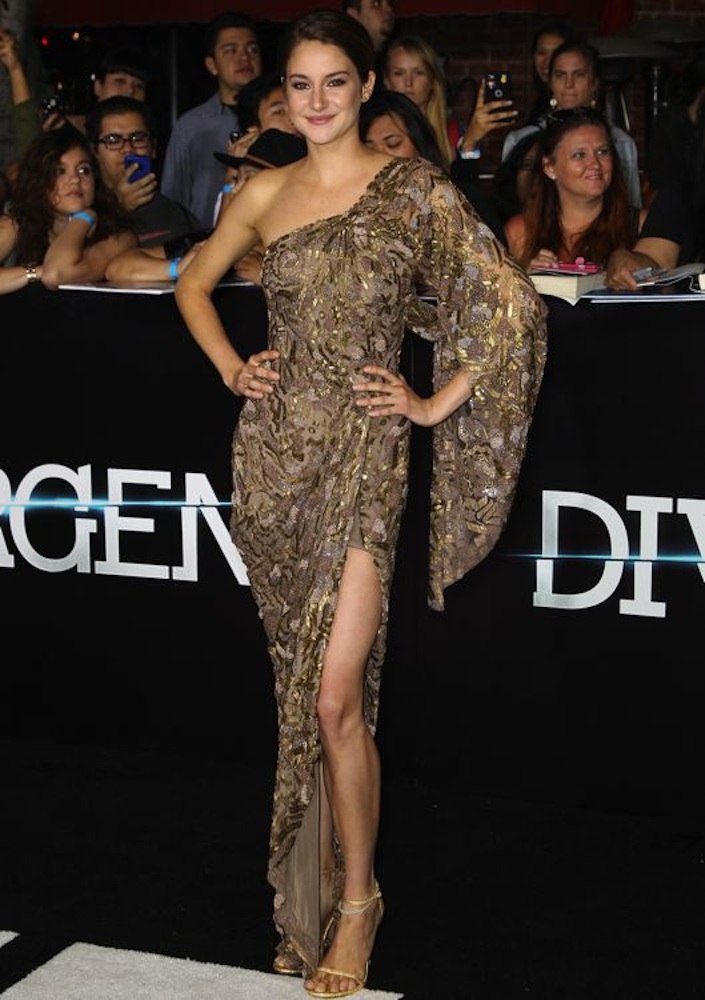 Shailene Woodley at the Los Angeles Premiere of Divergent