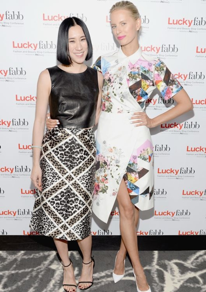 Karolina Kurkova at the Lucky FABB: Fashion and Beauty Blog Conference