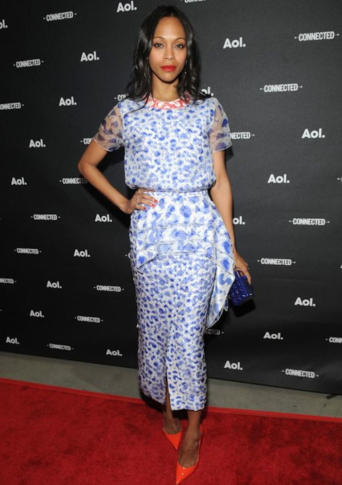 Zoe Saldana at the 2014 AOL NewFronts Event