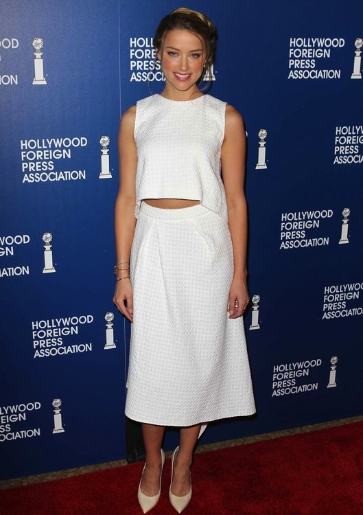 Amber Heard at the Hollywood Foreign Press Association's 2013 Installation Luncheon