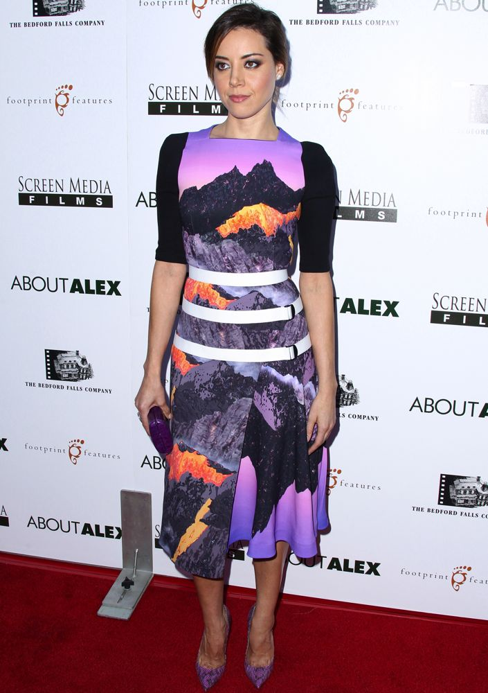 Aubrey Plaza at the Los Angeles Premiere of About Alex