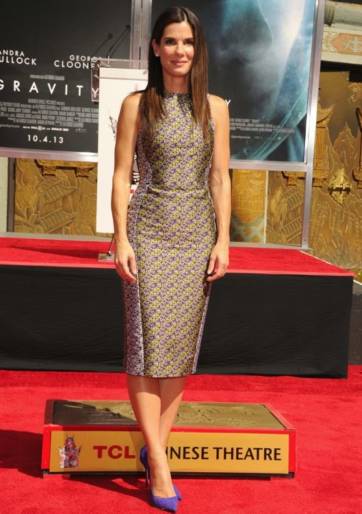 Sandra Bullock at a TCL Chinese Theatre Hand and Footprint Ceremony