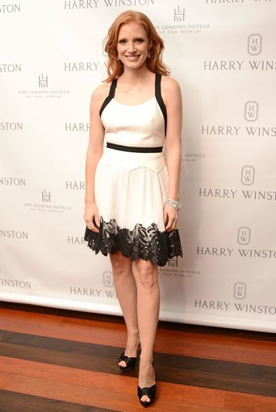 Jessica Chastain at the Harry Winston Dinner