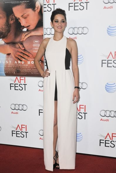 Marion Cotillard at the AFI Fest 2012 Premiere of Rust and Bone