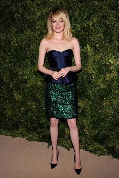 Emma Stone at the 2012 CFDA/Vogue Fashion Fund Awards