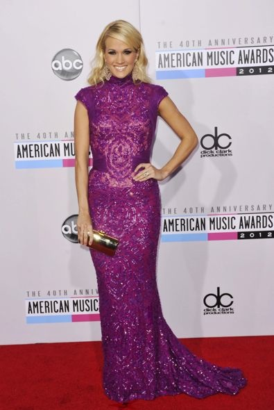 Carrie Underwood at the 2012 American Music Awards