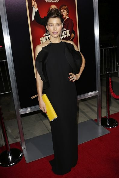 Jessica Biel at the Los Angeles Premiere of Hitchcock