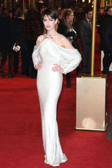 Anne Hathaway at the London Premiere of Les Mis