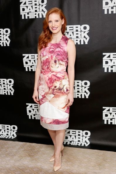Jessica Chastain at the New York City Photocall for Zero Dark Thirty