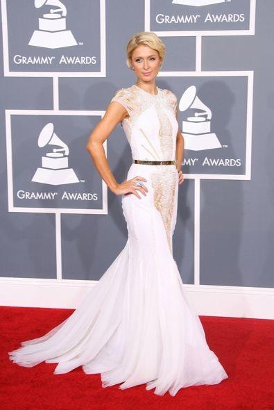 Paris Hilton at the 54th Annual Grammy Awards