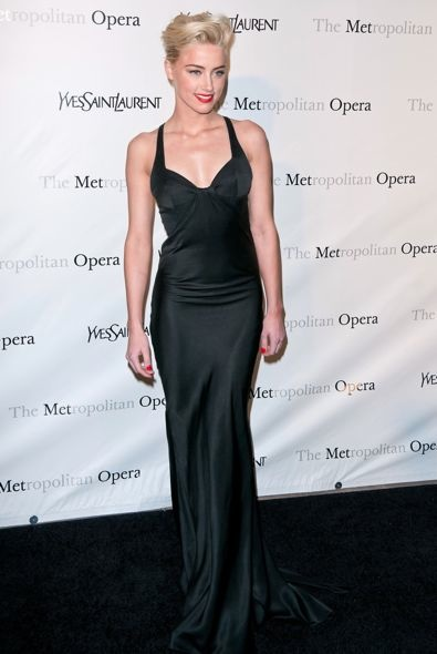 Amber Heard at the Metropolitan Opera Gala Premiere of Jules Massenet