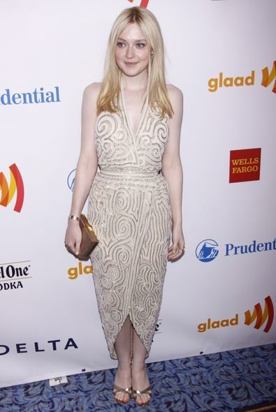 Dakota Fanning at the 2012 GLAAD Media Awards
