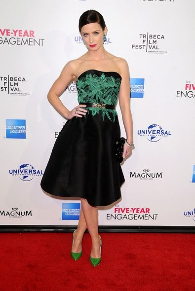 Emily Blunt at the 2012 Tribeca Film Festival Premiere of The Five-Year Engagement