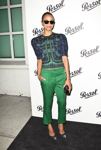 Zoe Saldana at Persol Magnificent Obsessions: 30 Stories of Craftsmanship in Film