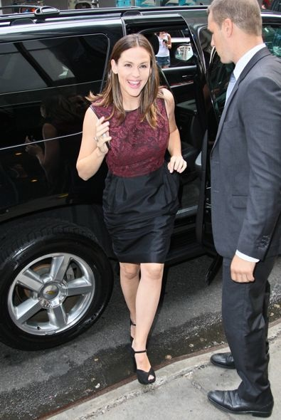 Jennifer Garner Arriving at Good Morning America
