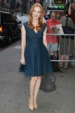 Jessica Chastain Taping a Good Morning America Segment