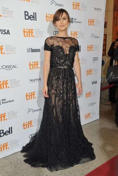 Keira Knightley at the 2012 Toronto International Film Festival Premiere of Anna Karenina
