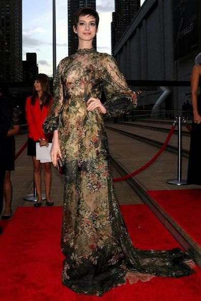 Anne Hathaway at the New York City Ballet 2012 Fall Gala