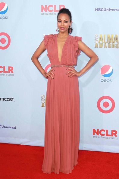 Zoe Saldana at the 2012 ALMA Awards