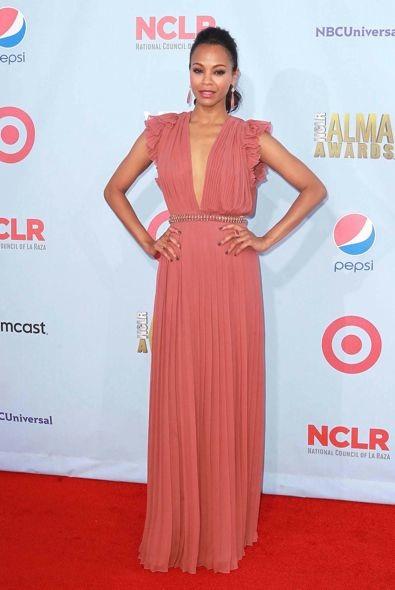 Zoe Saldana at the 2012 ALMA Awards