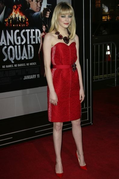 Emma Stone at the Los Angeles Premiere of Gangster Squad