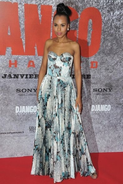 Kerry Washington at the Paris Premiere of Django Unchained