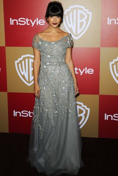 Hannah Simone at the InStyle and Warner Bros. Golden Globe After Party