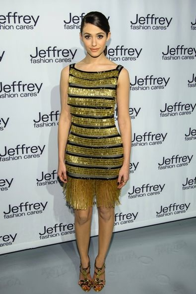 Emmy Rossum at the Jeffrey Fashion Cares 10th Anniversary Celebration