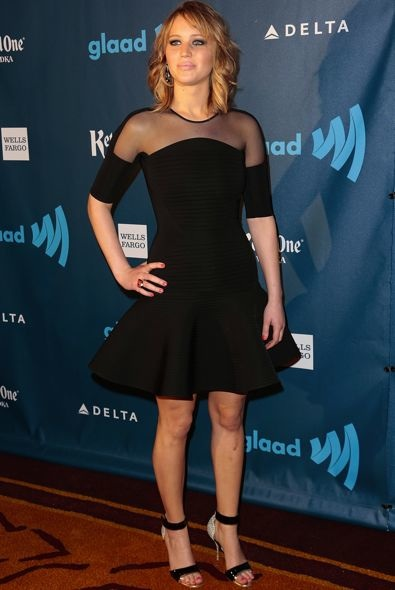 Jennifer Lawrence at the 24th Annual GLAAD Media Awards