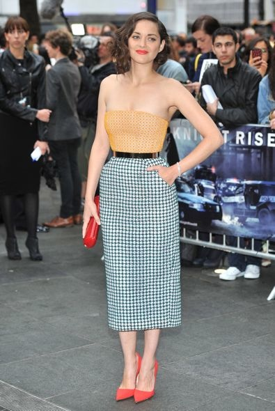 Marion Cotillard at the London Premiere of The Dark Knight Rises