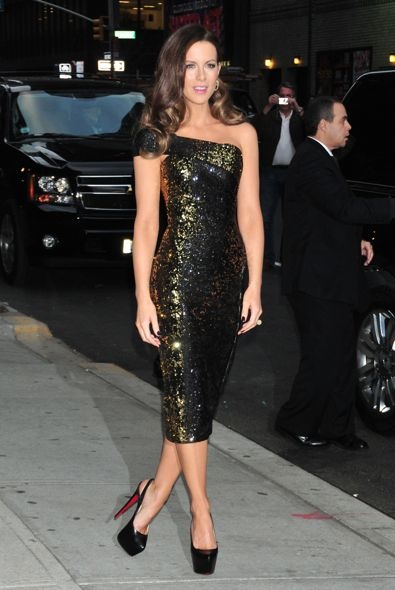 Kate Beckinsale at the Late Show with David Letterman